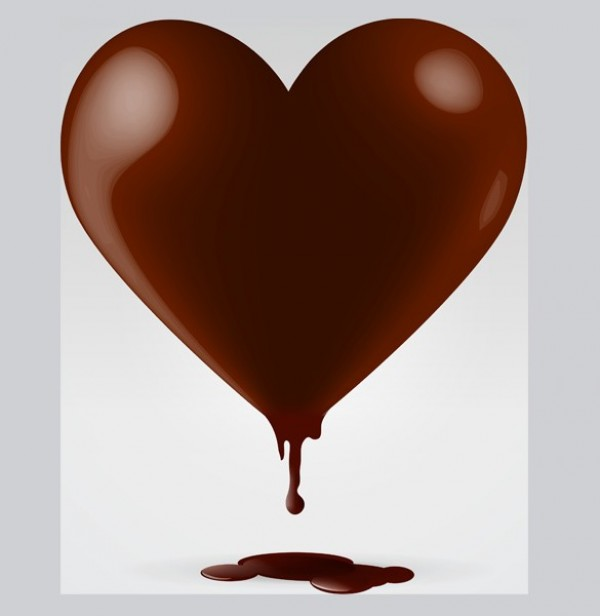 Dripping Chocolate Heart Vector Graphic Welovesolo