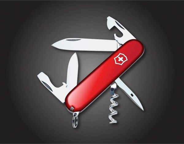 realistic red swiss army knife vector graphic welovesolo. Black Bedroom Furniture Sets. Home Design Ideas