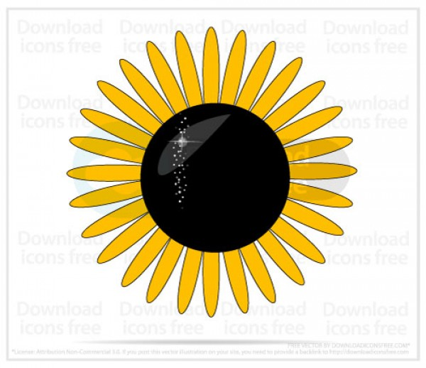 Vector Sunflower Symbol Welovesolo