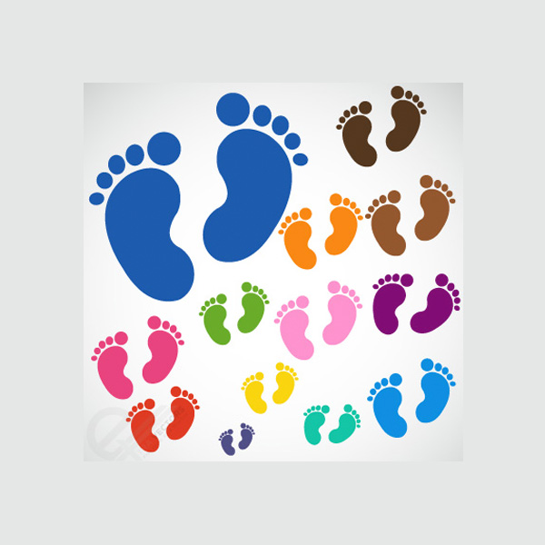web vector unique ui elements SVG stylish set quality original new interface illustrator high quality hi-res HD graphic fresh free download free foot print EPS elements download detailed design creative colors colorful child baby footprint baby feet baby AI