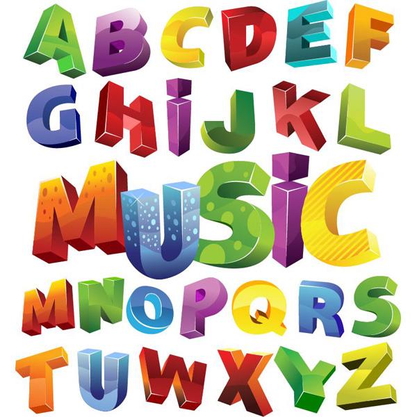 Colorful Block 3D Alphabet Font Set - WeLoveSoLo