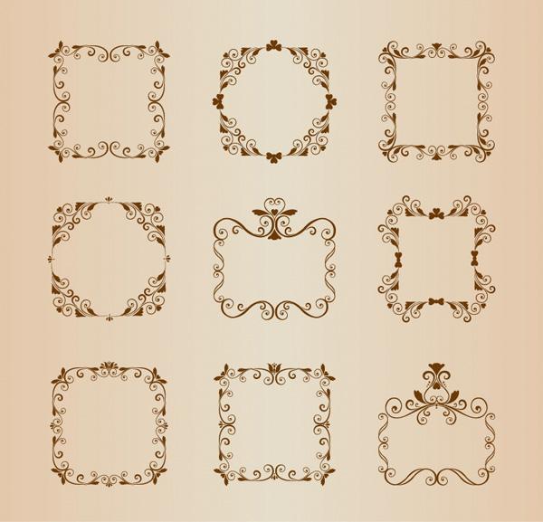 9 Vintage Ornamental Floral Border Frames - WeLoveSoLo