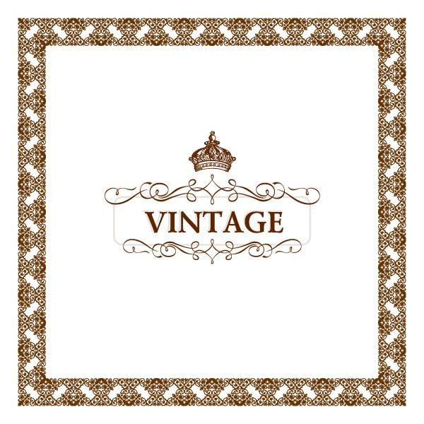 vintage frame vintage vector free download free frame flourish decorative decoration crown background