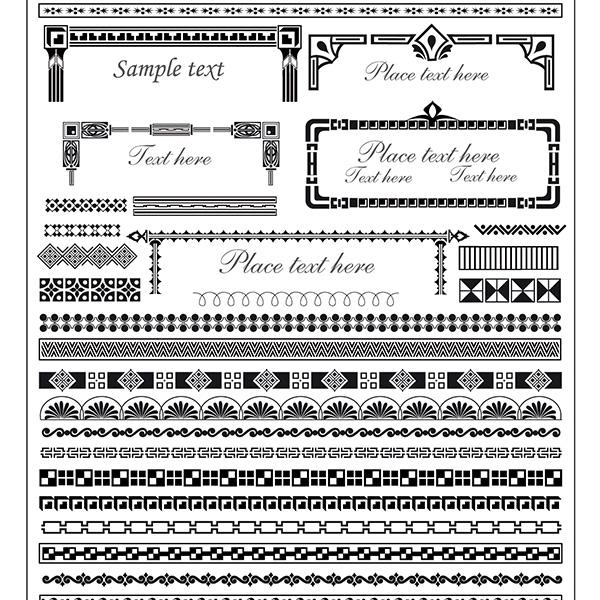 vector squares set ornate free download free frame elegant decorative decorations corners borders