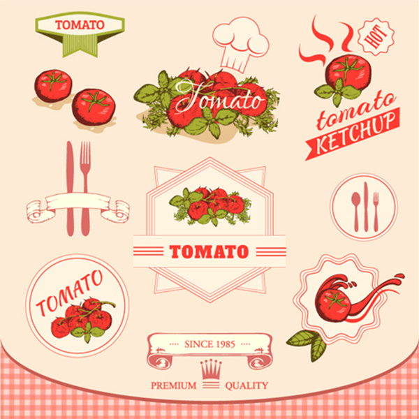 vector tomato menu labels kitchen illustrations icons free download free chef hat chef cartoon