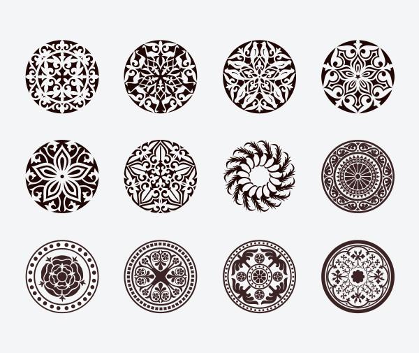 vector ornaments free download free floral elegant decorations circle