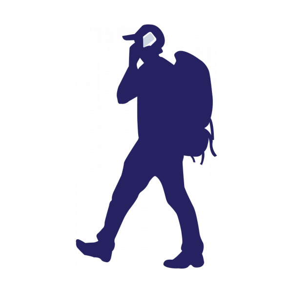 backpacker with phone vector silhouette welovesolo