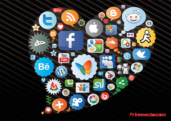 vector social icons vector social icons social set label heart free chat cloud chat bubble
