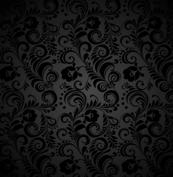 Dark seamless floral grey pattern welovesolo for Grey patterned wallpaper
