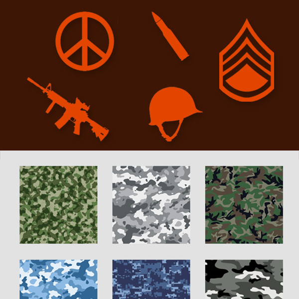weapon peace symbol military helmet gun camouflage bullet background