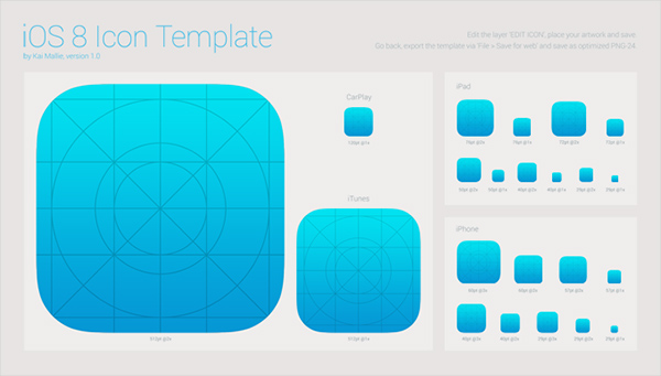 Ios 8 icon iphone ipad itunes template welovesolo for Iphone app logo template