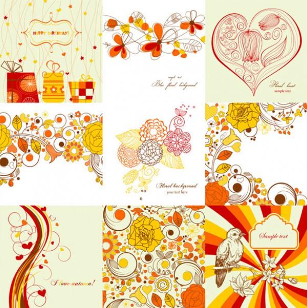 vintage vector tile textures stylish retro repeatable tile red tone psd source photohsop resources pattern pastel colors paint orange hand painted free vectors