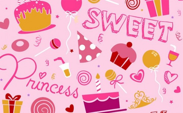 Pink Vector Birthday Pattern Background Welovesolo