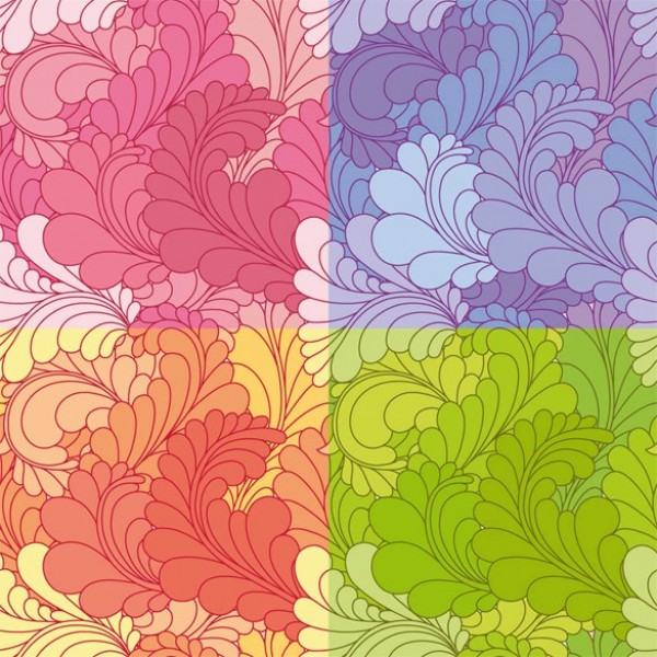 web vector unique stylish seamless quality purple pink pattern ornamental original orange illustrator high quality hand painted green graphic fresh free download free floral download design creative background