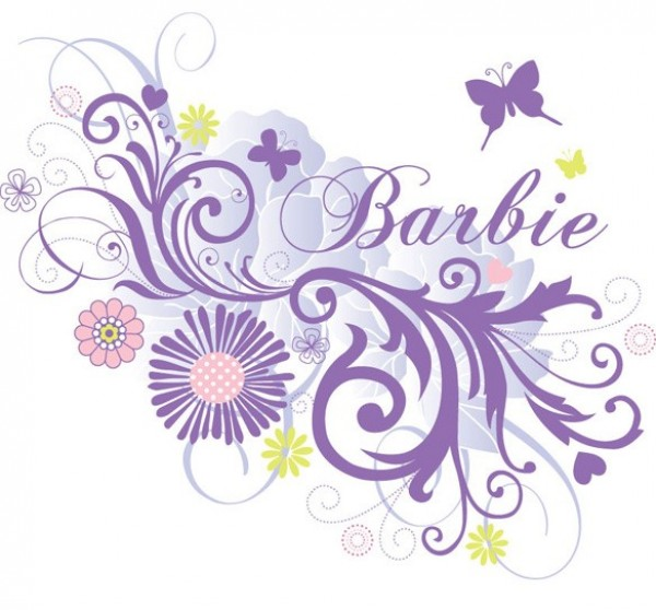 web vector unique swirls stylish quality purple original illustrator high quality graphic fresh free download free floral EPS download design creative butterfly barbie background abstract