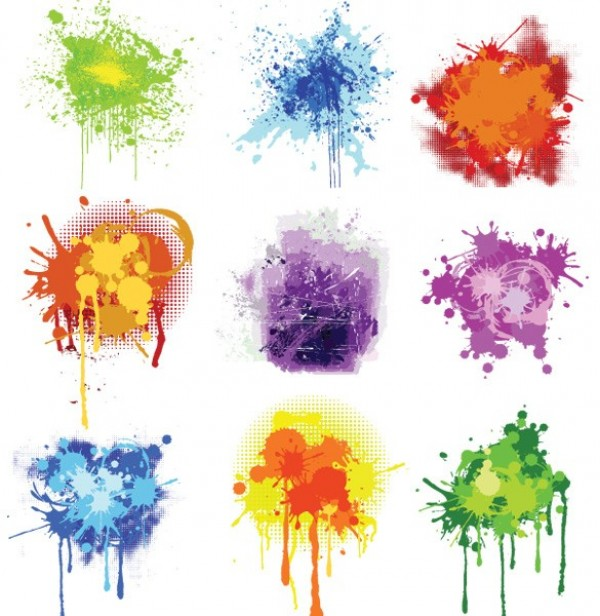 Color Splatter Vector Splatter Paint Vector