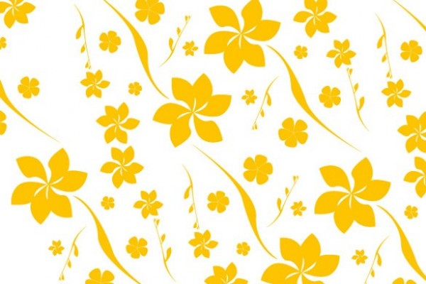 yellow floral pattern - photo #28