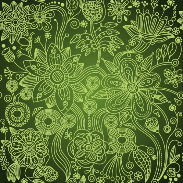web wallpaper vintage floral pattern vintage vector unique ui elements stylish seamless quality pattern original new interface illustrator high quality hi-res HD green graphic fresh free download free floral european EPS elements download detailed design dark green creative background