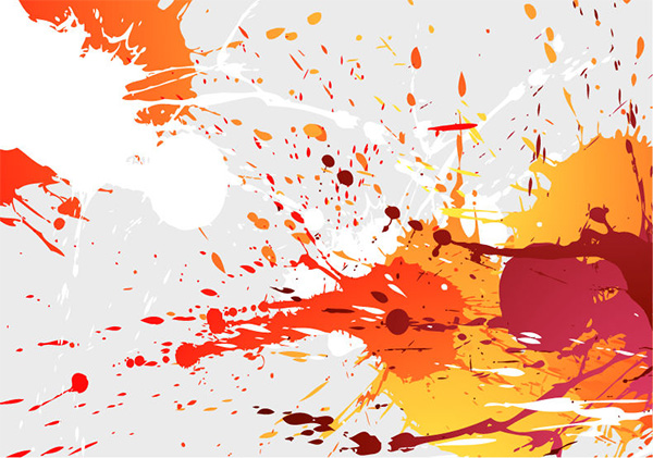 Color Splatter Background Splatter Splash Background