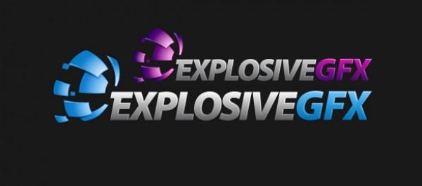 logos logo gfx explosive explosion bits AI
