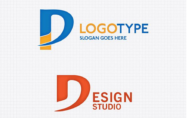 2 letter d typeface logo templatea welovesolo