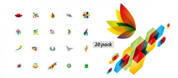 Vectors vector logos logo graphic elegant AI abstract 20 pack