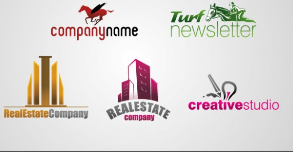 Vectors turf template Studio Real quality logo horse free vectors free downloads estate download creative collection business building