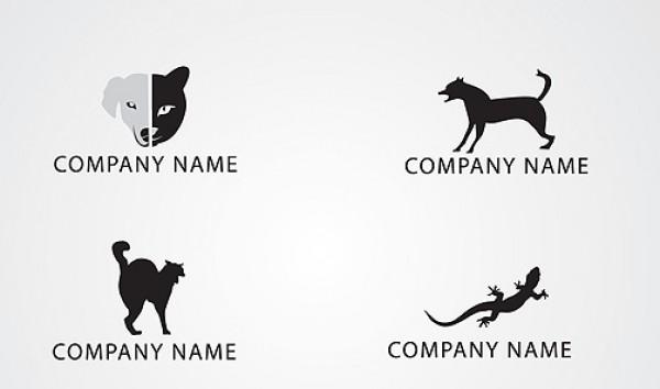 Vectors silhouette reptile quality grey free vectors free downloads dog contrast cat black white black