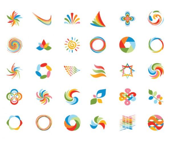 30 Unique Logo Design Elements Set - WeLoveSoLo