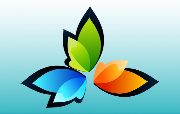 spa organic nature logotypes logos leaves leaf colorful