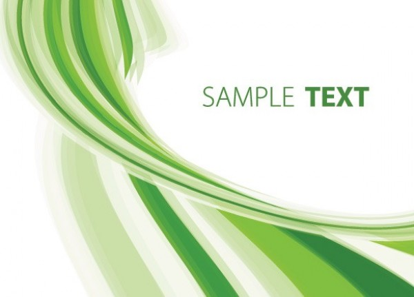 Green Stripe Twist Abstract Vector Background