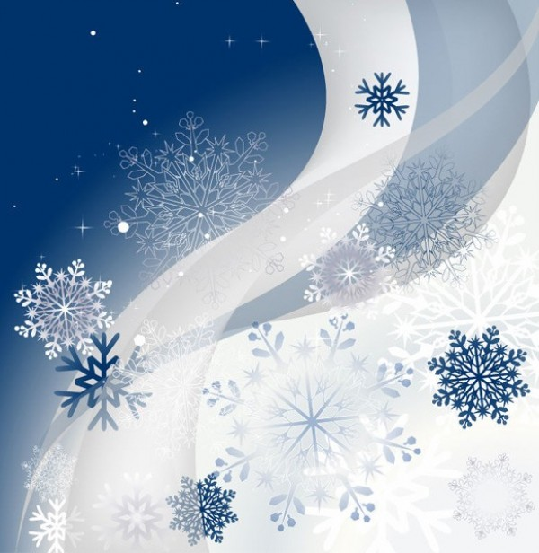 wintertime winter white web wave vector unique stylish snowflake quality original illustrator high quality graphic fresh free download free EPS download design curve creative blue background abstract