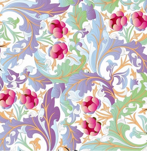 Elegant Vintage Floral Vector Background