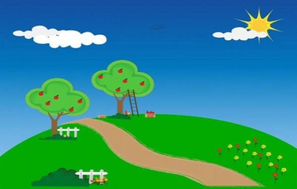 Green Country Lane Nature Scene Background - WeLoveSoLo