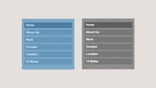 Simplistic Vertical Navigation Menu PSD/CSS - WeLoveSoLo
