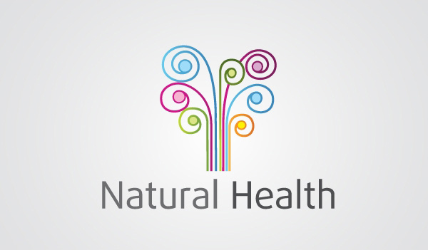 swirl spa nature natural logotype logo health free download free flowers floral colorful