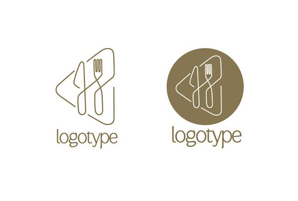 fork knife restaurant vector logotype logo welovesolo