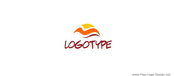 wave warm tropical travel sun spa sea resorts ocean logotype logo hotels free agency