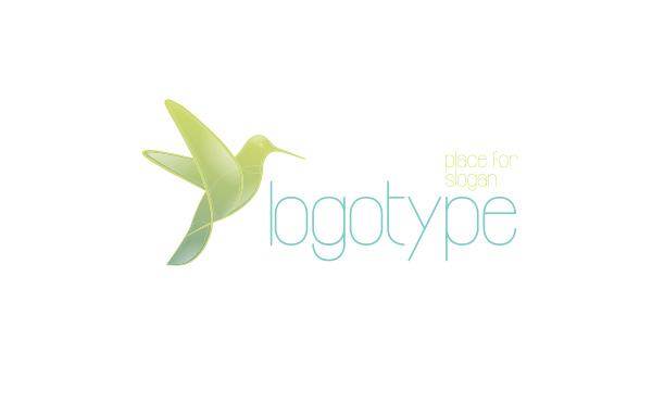 vitality vector spa massage clinic logotype logo hummingbird health Harmony free energy dove bird