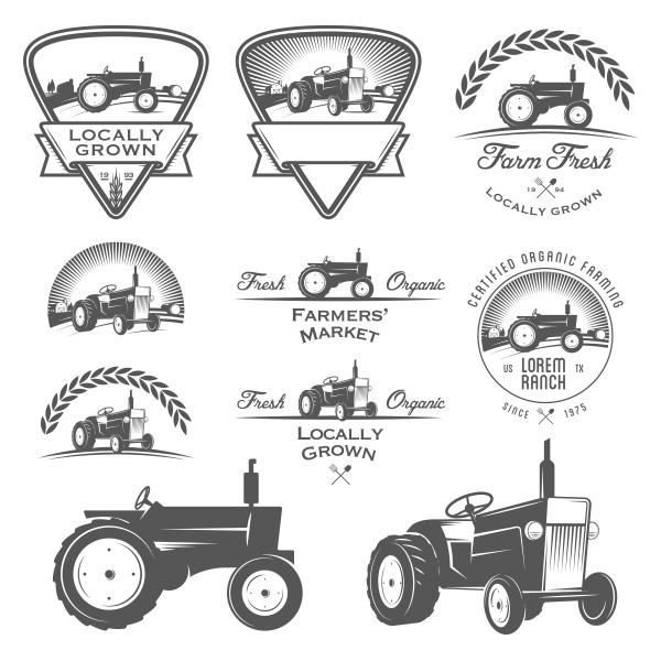 p18pn0ped01nqf1fhu1j92n7dafu5 details 10 Farm Tractor Emblem Logo Logotypes