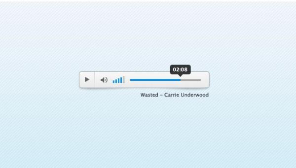 white user interface ui small psd resources photoshop source files minimal mini light blue light free ui elements blue audio player