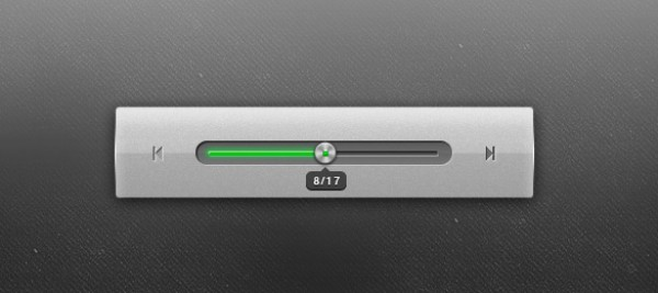 user interface ui slider slick sleek progress bar professional photoshop source grey green free psd element cool audio