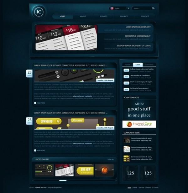 Creative Gaming WordPress Template PSD - WeLoveSoLo