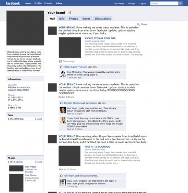 Mock up Facebook Fanpage PSD - WeLoveSoLo