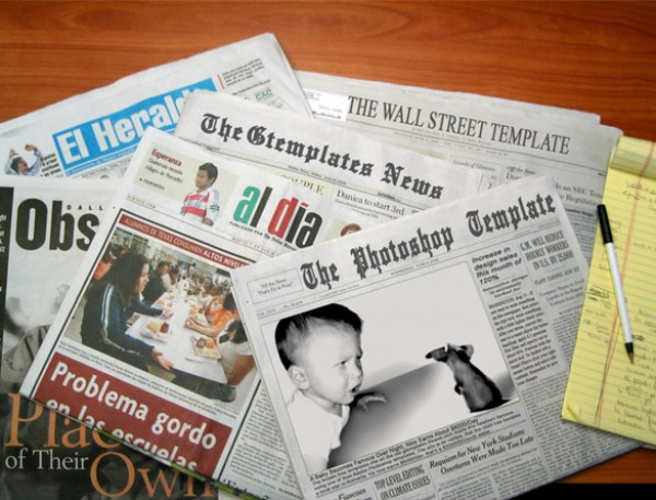 Cool Newspaper Template Psd Welovesolo