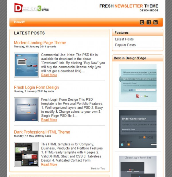 Simple Newsletter Theme Template WeLoveSoLo - Simple newsletter template