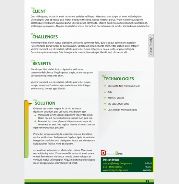 Attractive Case Study Template  Cover  Welovesolo