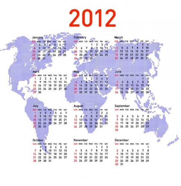 2012 world map vector calendar welovesolo 2012 world map vector calendar gumiabroncs Images