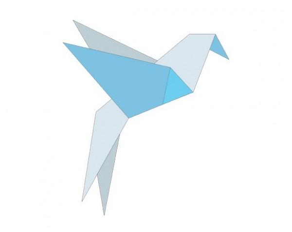 Exquisite Origami Bluebird Vector Graphic