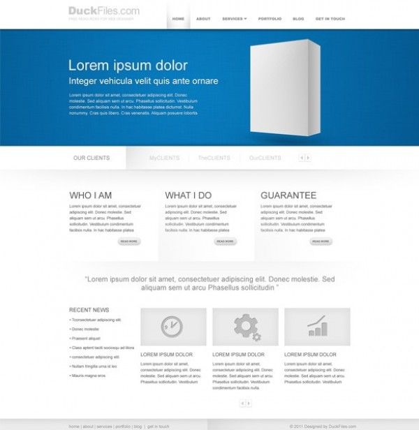 Minimalist Corporate Business Website Templates PSD - WeLoveSoLo